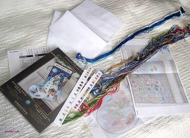 Схемы вышивки набор от dimensions