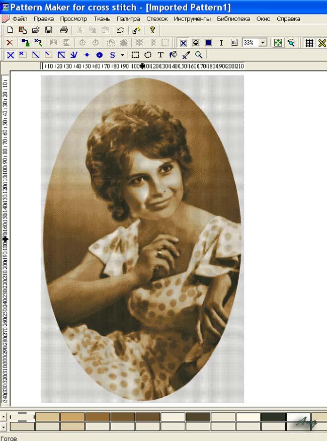 Программа для составления схемы вышивки по фотографии.