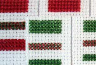 Вышивка крестом во сколько нитей