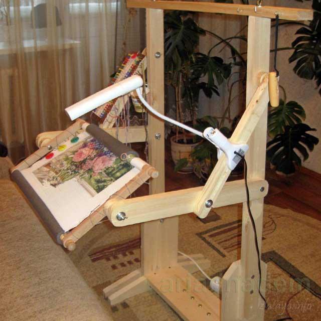 Напольный станок для вышивания своими руками
