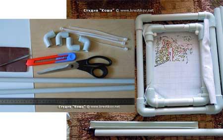 Пластиковые рамки для вышивок