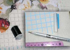 Как правильно разметить канву для вышивки