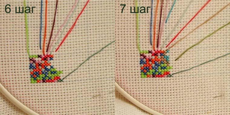 Вышивка крестиком в квадрате