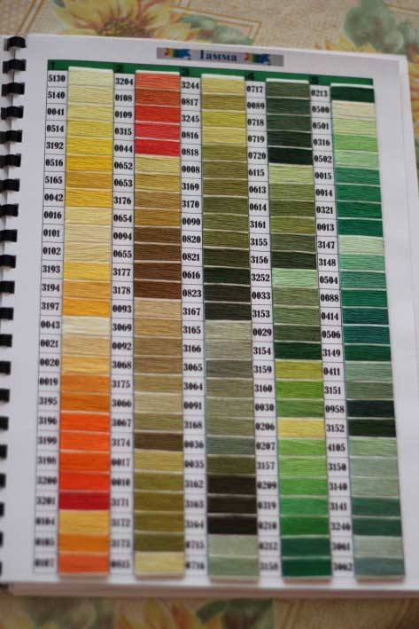 Карта цветов своими руками фото 996