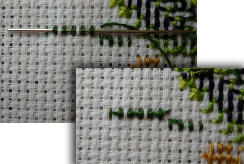 Вышивка крестом как сделать закрепку