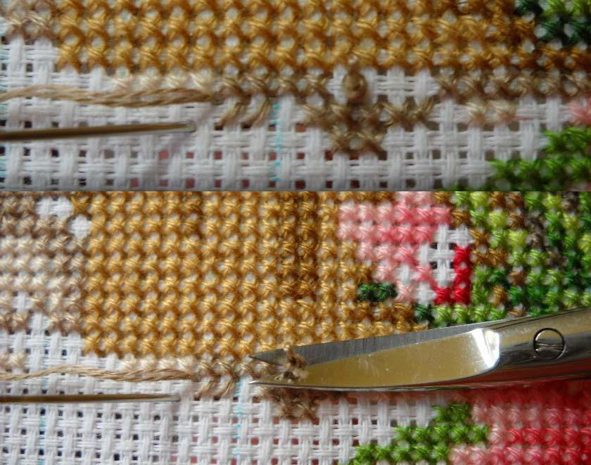Вышивка крестом без узелков в 3 нити 41