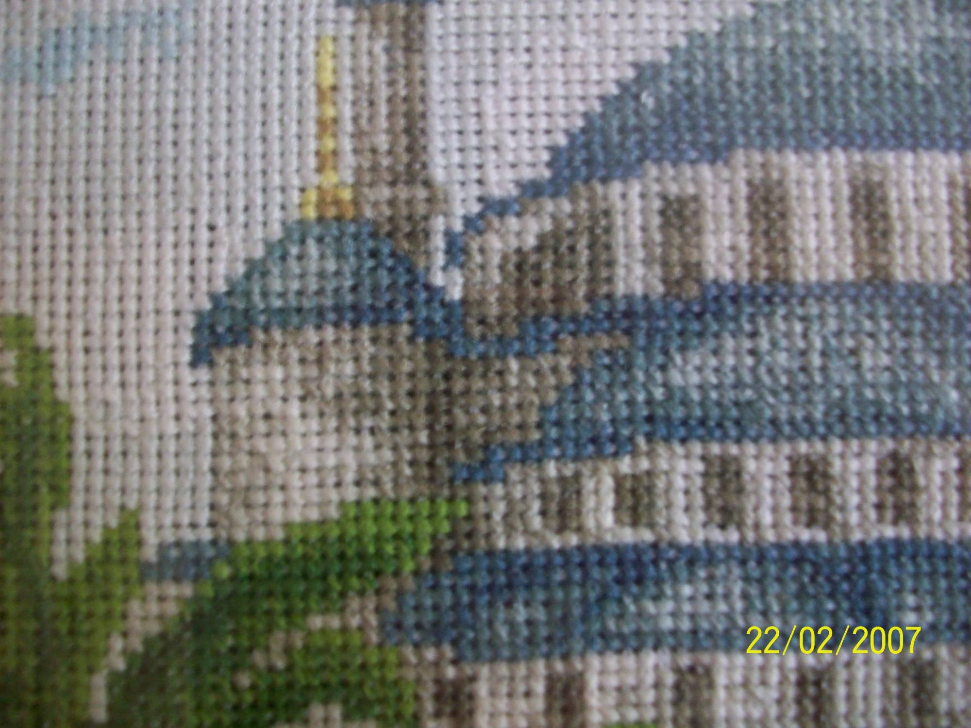 Вышивка голубой мечети