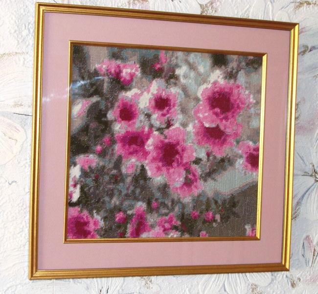 Вышивка золотое руно розовый прованс