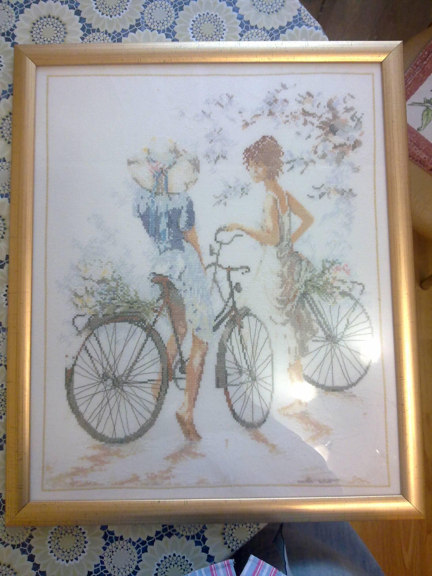 Вышивки крестом велосипедистки