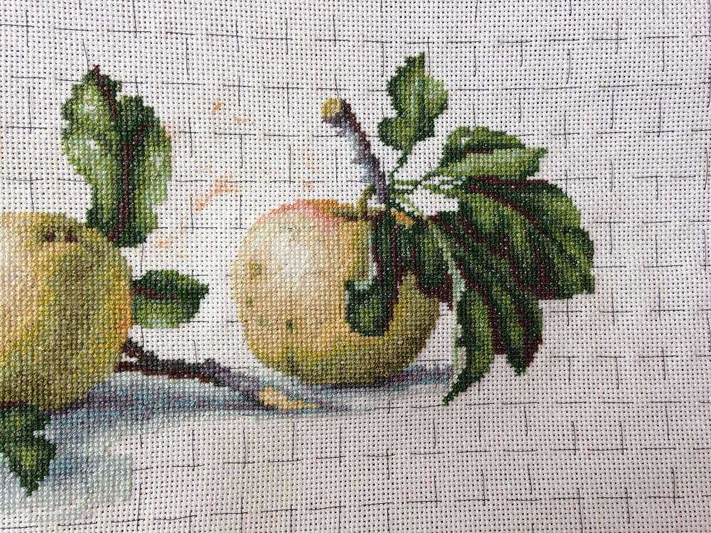 Вышивка лукас яблоки