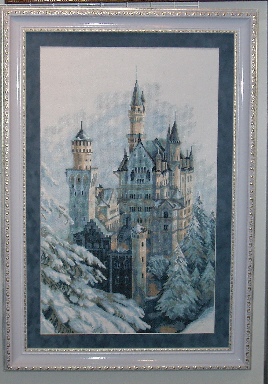 "Набор для вышивания: ""Замок зимой "" * Техника:Вышивка крестом *Артикул:А-151 * Размер:36 см х 60,5 см..."