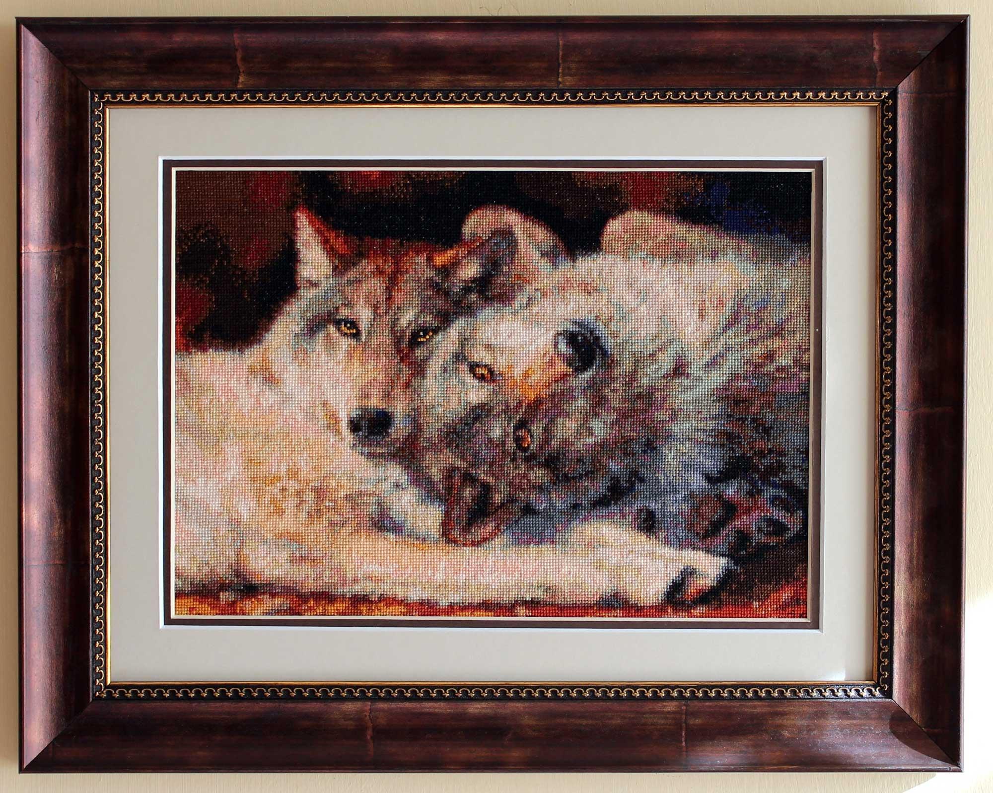 Вышивки крестом волки счастливая пара
