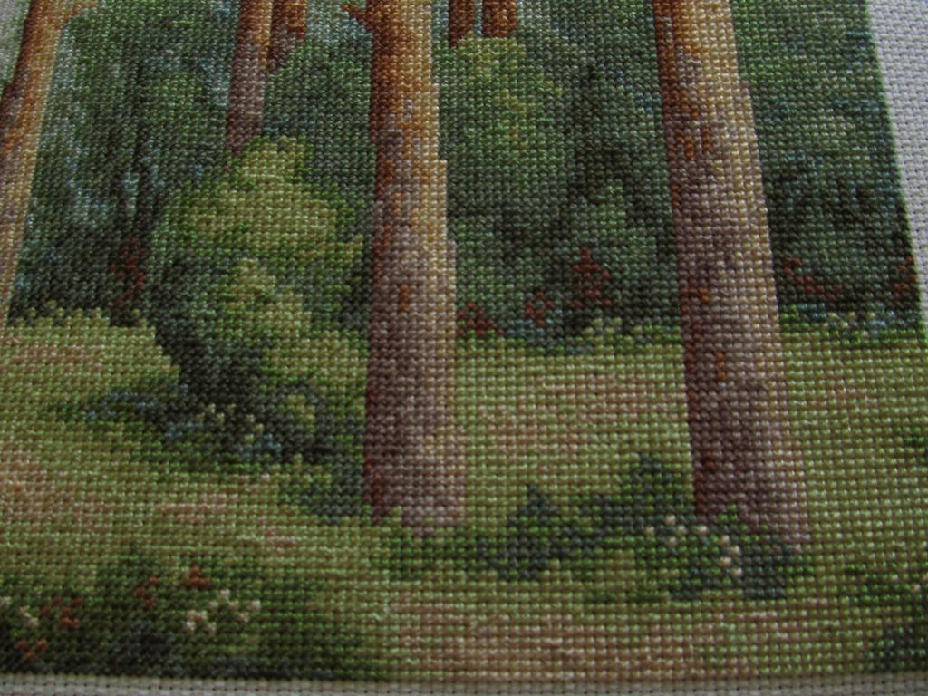 Вышивка сосновый бор от золотого руна схема