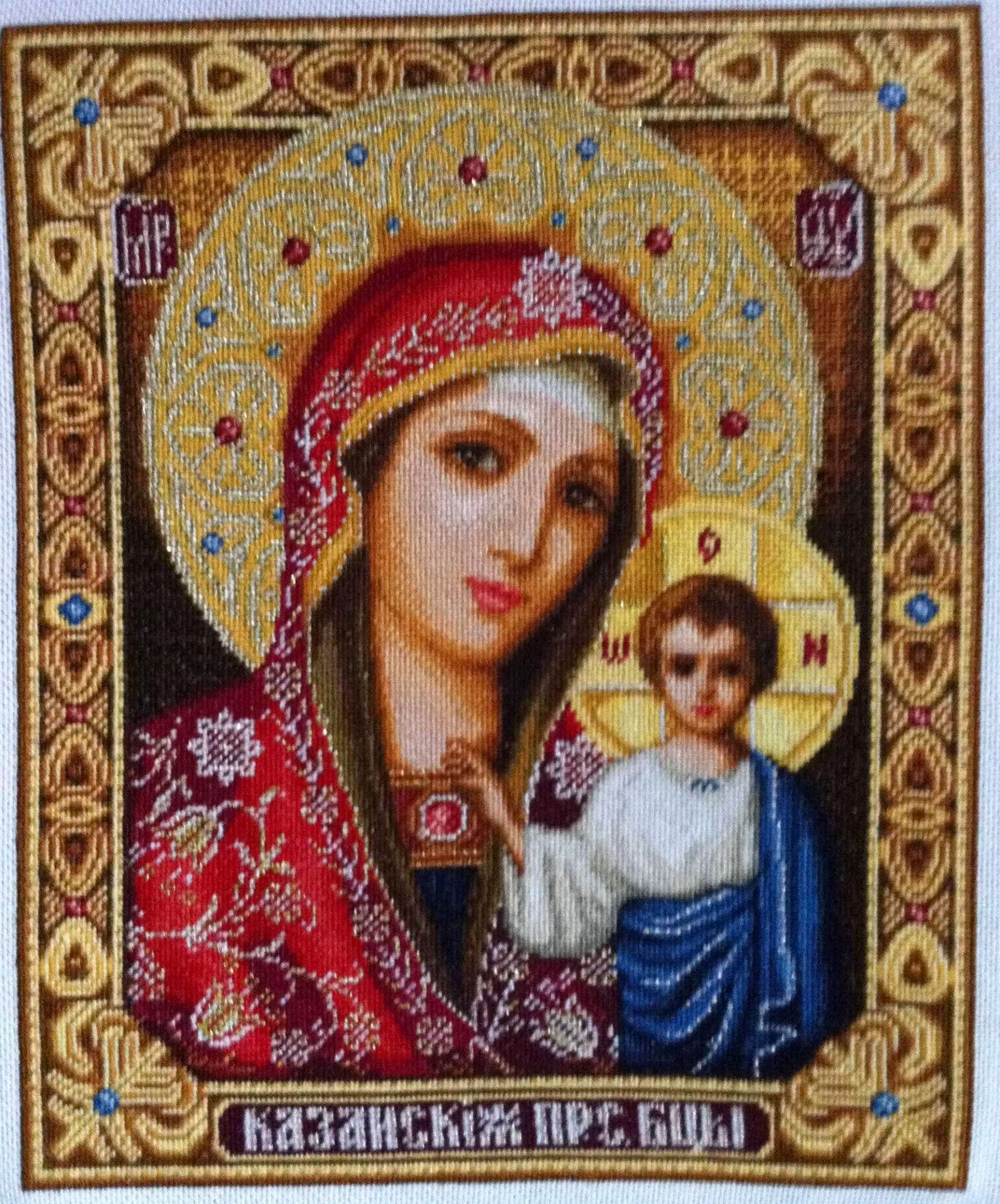 Иверская богородица вышивка
