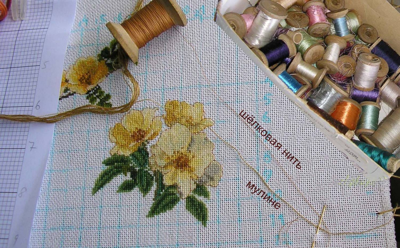 Вышивка крестом шелковыми нитками купить