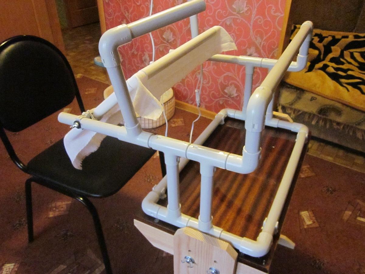 Станки для вышивания своими руками из пластиковых труб