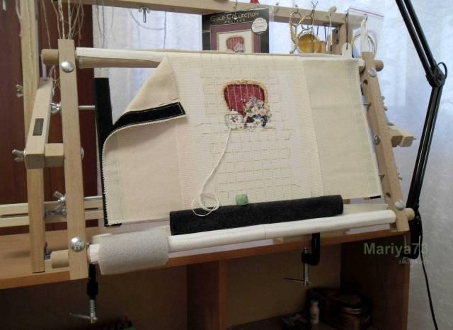 Как закрепить полотно для вышивки в станке 39