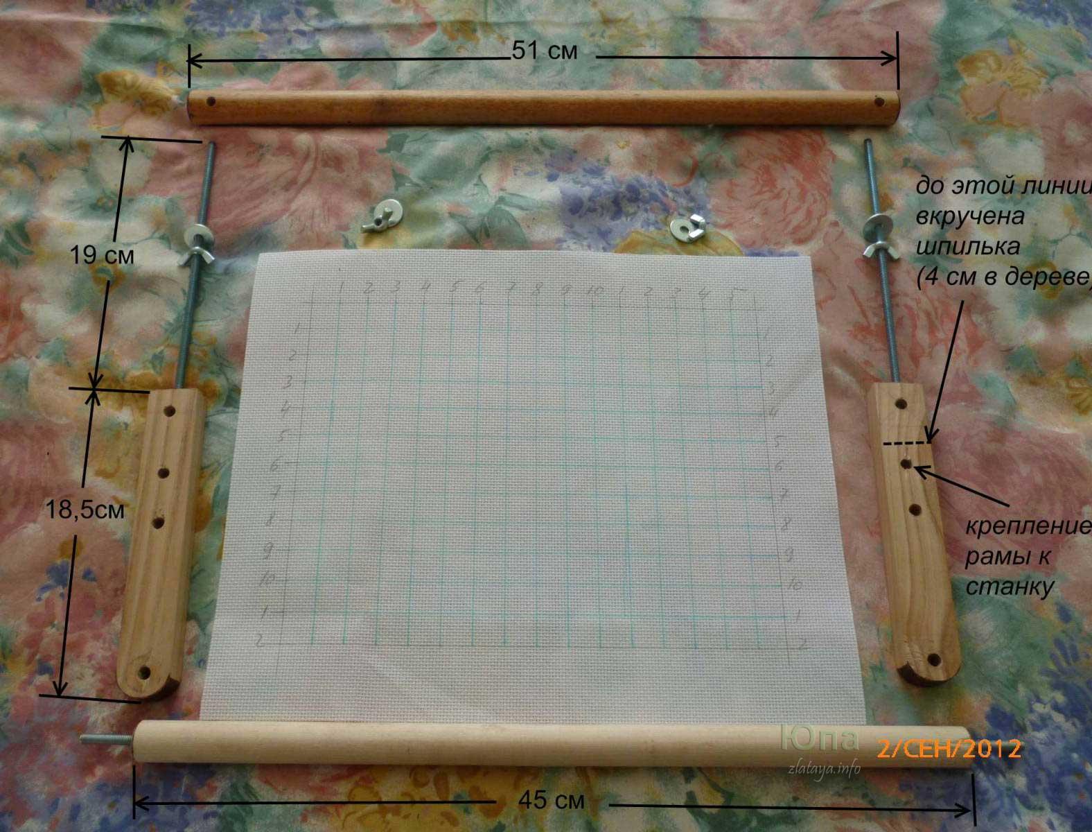 Мастер-класс: универсальная рамка для вышивания
