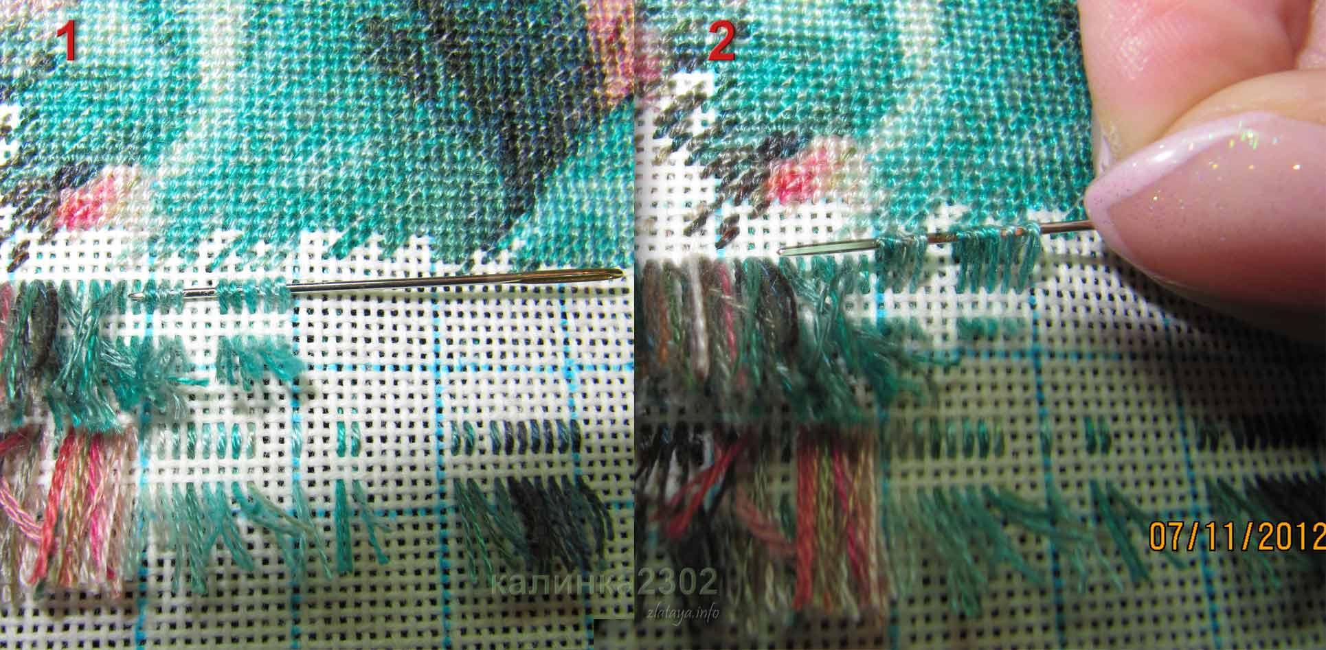 Вышивка чистая изнанка 4