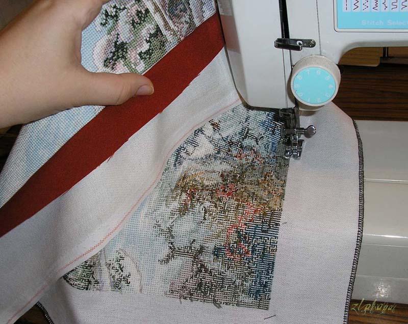 Как делать подушки из вышивки