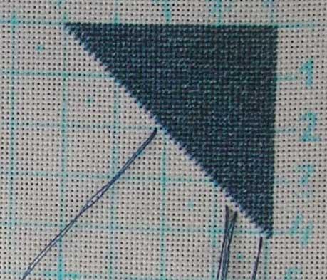 Вышивка полкреста